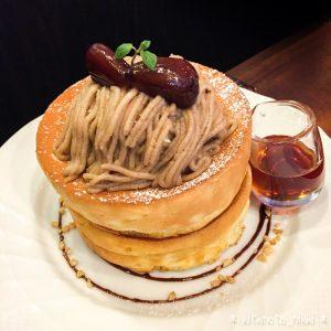星乃珈琲「栗のスフレパンケーキ」