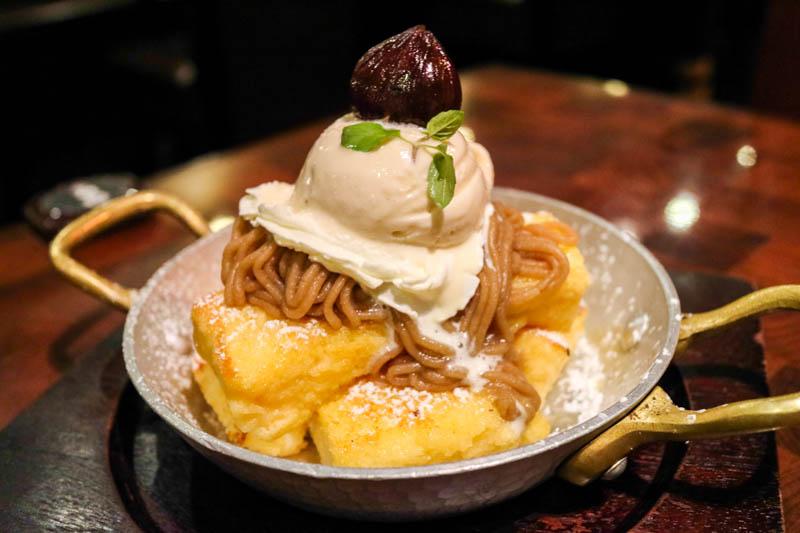 星乃珈琲「モンブランのフレンチトースト(季節メニュー)」
