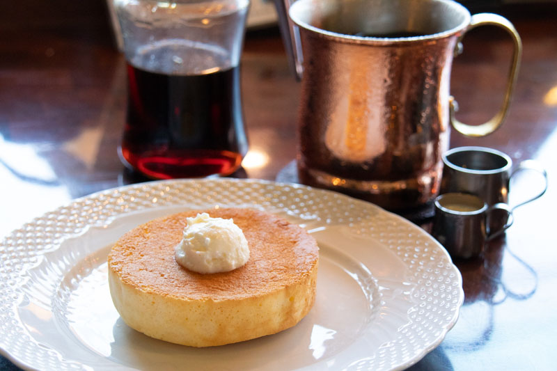 星乃珈琲のモーニング「ミニパンケーキ」